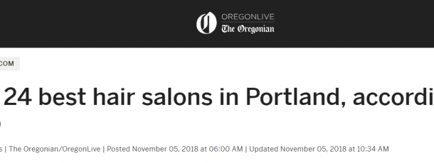 Fringe named #1 – The 24 best hair salons in Portland, according to Yelp